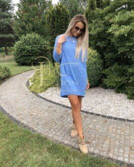 Megztinis-suknelė VERA (Mėlyna)